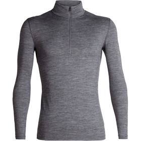 Icebreaker 200 Oasis LS Half Zip Shirt Men Gritstone Heather